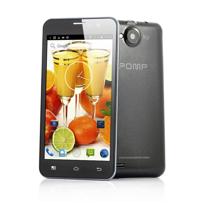 Wholesale POMP W99 - 5 Inch Android 4.2 Phone (Quad Core 1.5GHz CPU, 2GB RAM, 32GB Memory, 8MP Camera, Black)