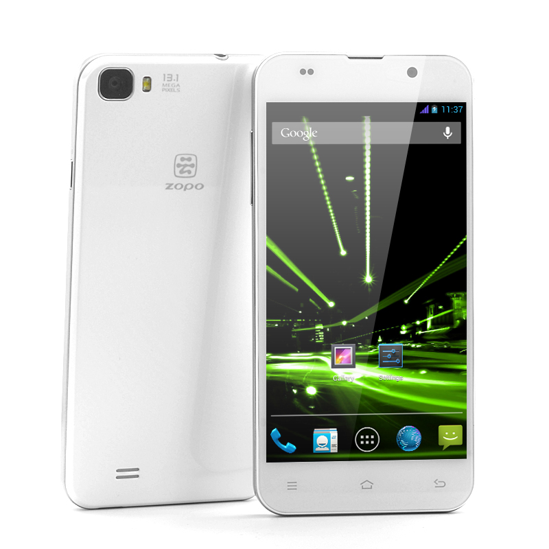 Wholesale ZOPO C2 - 5 Inch FHD Android 4.2 Phone (MT6589T Quad Core 1.5GHz CPU, 1920X1080, 441ppi, 16GB Memory, White)