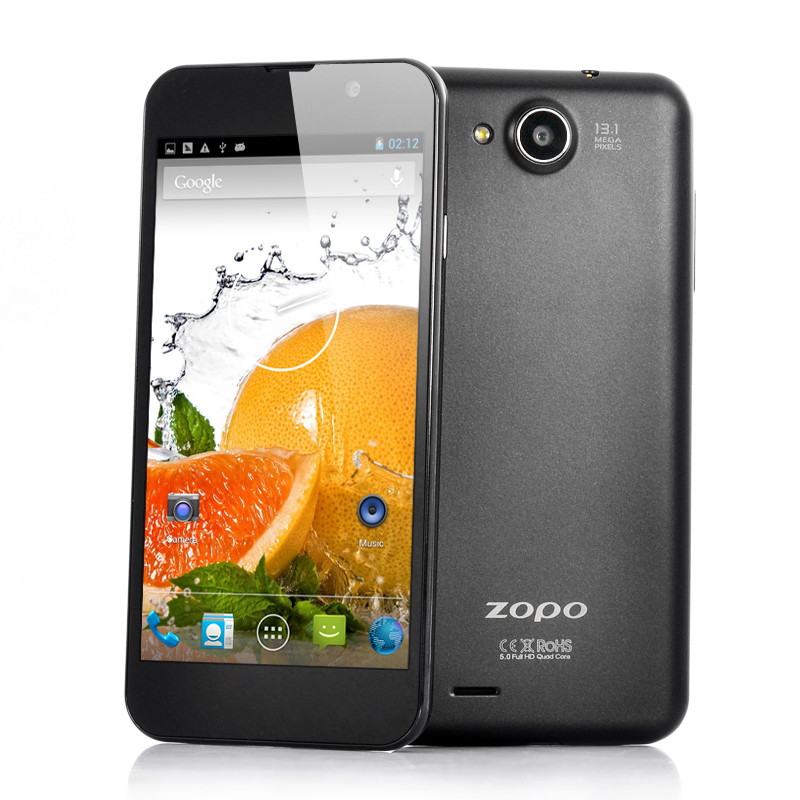 Wholesale ZOPO C3 - 5 Inch FHD Quad Core Android 4.2 Phone (Black, 1.5GHz MT6589T, 1920x1080 441ppi Screen, 13MP Camera, 16GB ROM)
