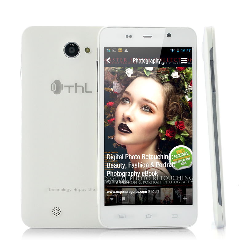 Wholesale ThL W200 5 Inch HD Android 4.2 Phone (Quad Core 1.5GHz CPU, 1GB RAM, 8GB Memory, White)
