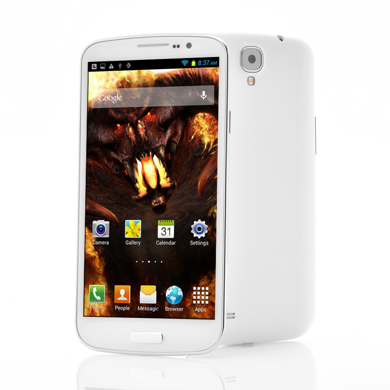 Wholesale Behemoth - 6.5 Inch Android 4.2 Phone (1.5GHz Quad Core, FHD Retina IPS Screen, 1920x1080, 13MP Camera, White)