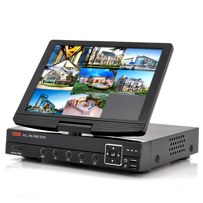 Wholesale 8 Channel DVR with 10 Inch Flip-up Monitor (H.264, D1 Resolution