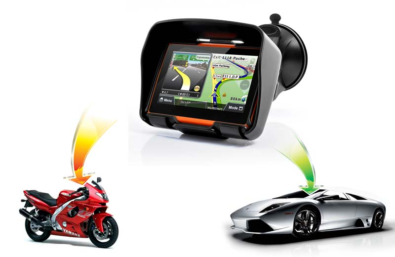 Motorcycle Navigation Systems : Rage all terrain motorcycle gps navigation system