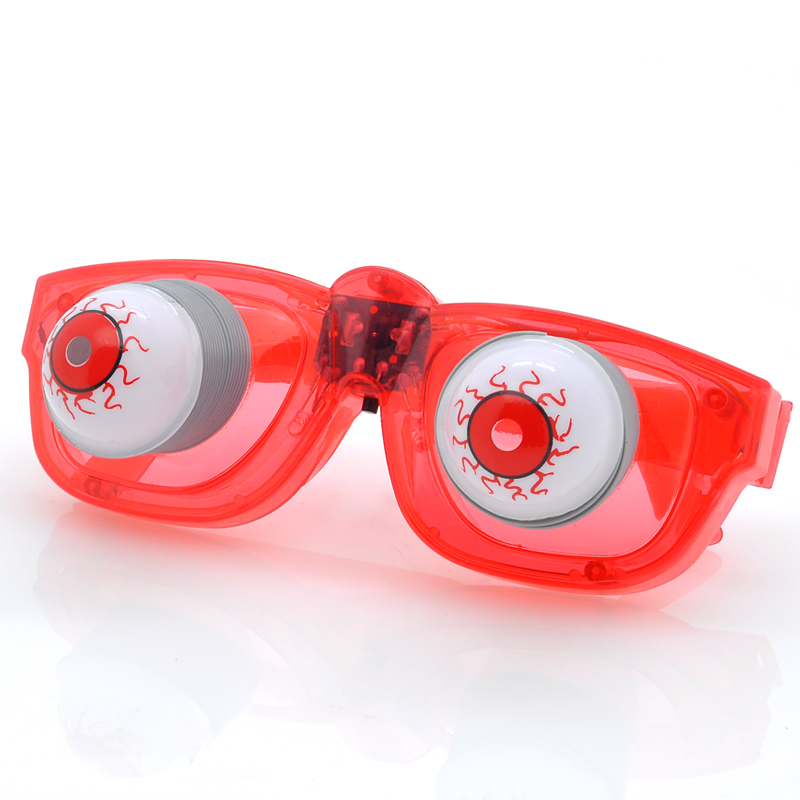 Wholesale Halloween LED Flashing Glasses (6 LEDs, Bobble Eyes, Red)