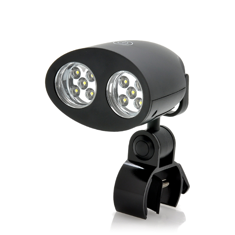 Multifunctional White LED Light (10x LEDs, Adjustable Clamp Mount, Battery Powered)