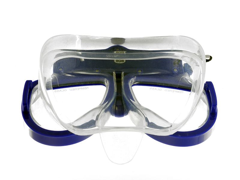 Underwater Scuba Mask with DVR (Detachable, 1280x720, 8GB)