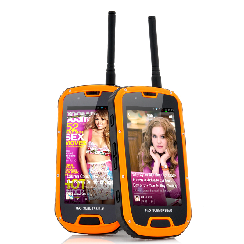 Wholesale Crybot - 4.3 Inch Rugged Android 4.2 Phone with Walkie Talkie (Orange, Quad Core 1.2GHz CPU IP67 Waterproof, Gorilla Glass)