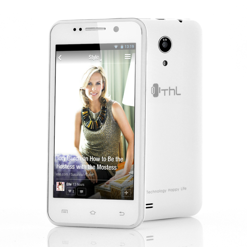 Wholesale ThL W100S - 4.5 Inch Android 4.2 Cell Phone (3G, MT6582M 1.3GHz Quad Core CPU, 1GB RAM, White)