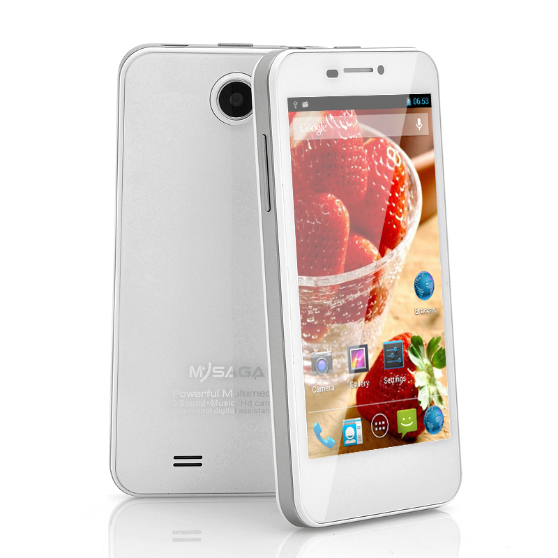 Wholesale MySaga M1 - 4.5 Inch Android 4.2 Phone (1.2GHz Quad Core CPU, 720p HD, 8MP Rear Camera, White)
