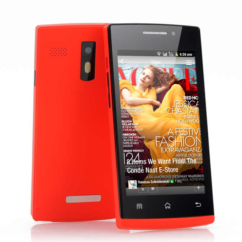 Wholesale Hong - Budget 4 Inch Android Smartphone (Spectrum 1GHz CPU, Bluetooth, 2000mAh, Red)