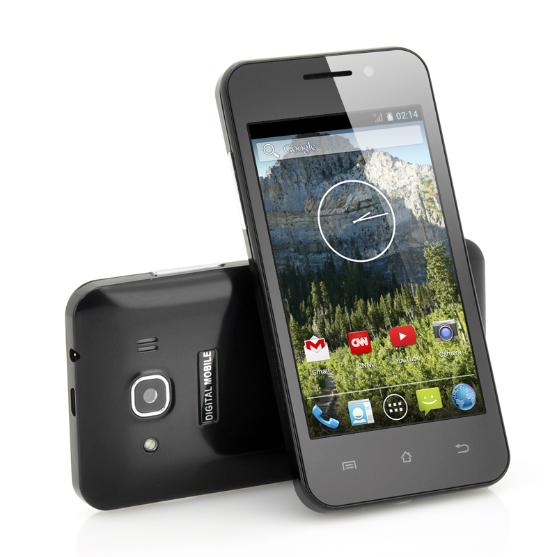 Wholesale Echo - 4 Inch Budget Android 4.2 Phone (1.3GHz Dual Core CPU, IPS Display, Dual Camera, Black)