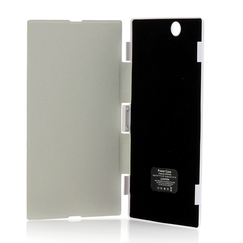 Wholesale 4500mAh External Battery Case With Flip Cover For Sony Xperia Z