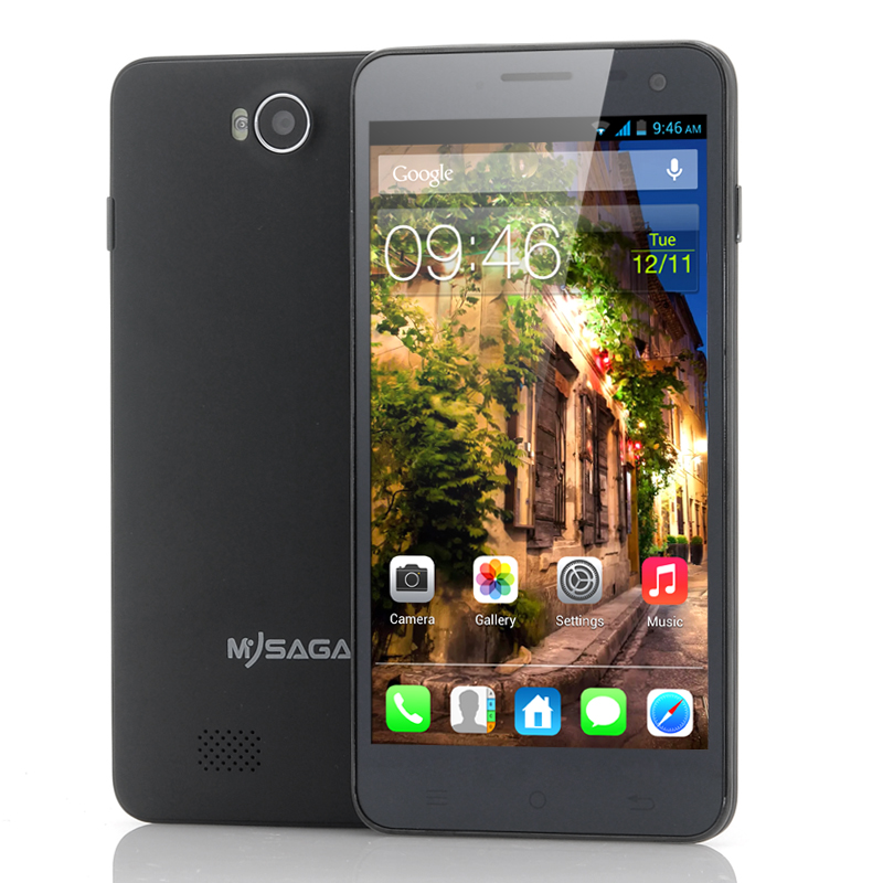 Wholesale MySaga M2 - 5 Inch Android 4.2 Phone (1.5GHz Quad Core CPU, 1080p HD, 12MP Rear Camera, Black)