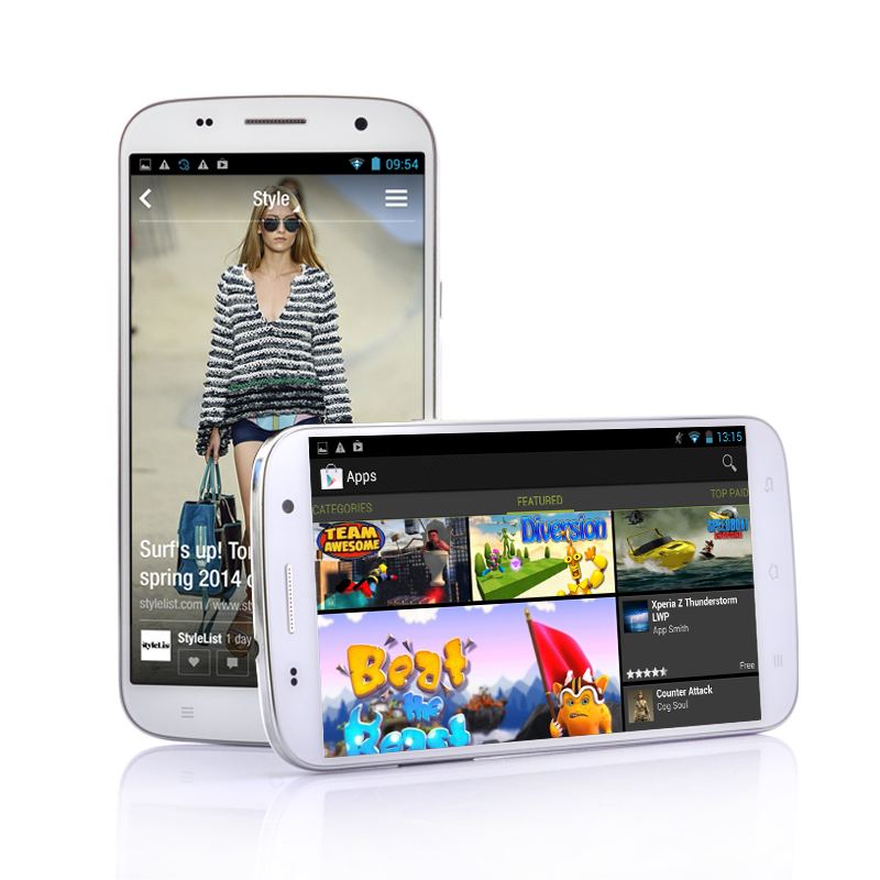 Wholesale ZOPO ZP990 - 6 Inch Full HD Android 4.2 Phablet (1080p, 1.5GHz Quad Core, 2GB RAM, 32GB, Gorilla Glass, White)