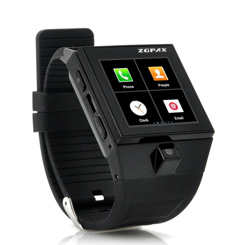 Wholesale ZGPAX S5 - Android Smart Phone Watch with 1.54 Inch Touch Screen (1GHz Dual Core CPU, 4GB, 2MP, Black)