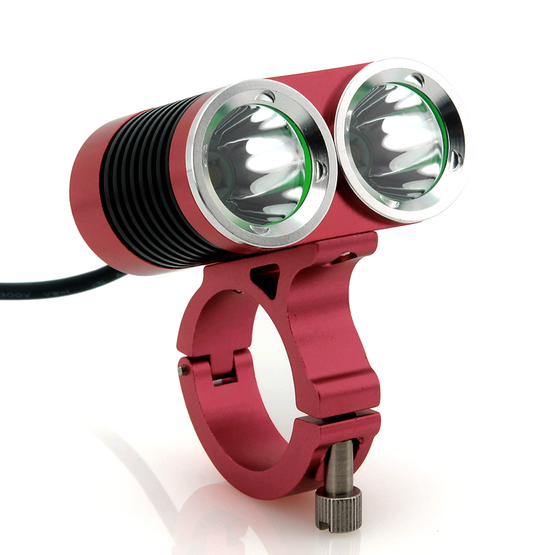 Wholesale Hasky Dark Knight - Waterproof Bicycle LED Light (2x CREE XML-T6 LEDs, 2400 Lumens, 250m Range, Battery pack)