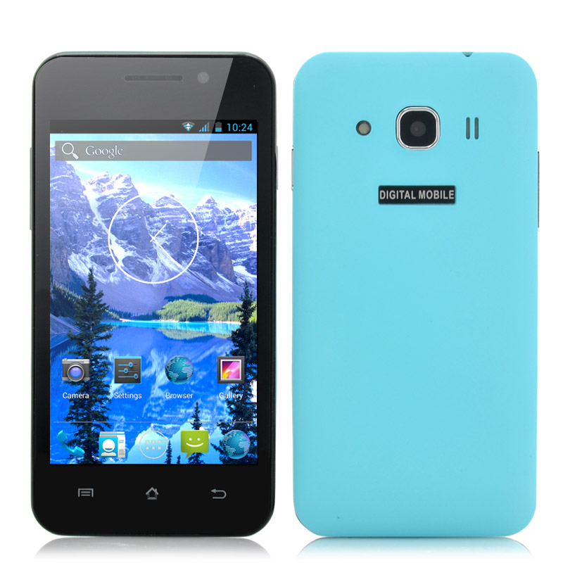 Wholesale Bravo - Budget 4 Inch Android Phone (3G, 1.3GHz Dual Core CPU, Dual Camera, Blue)