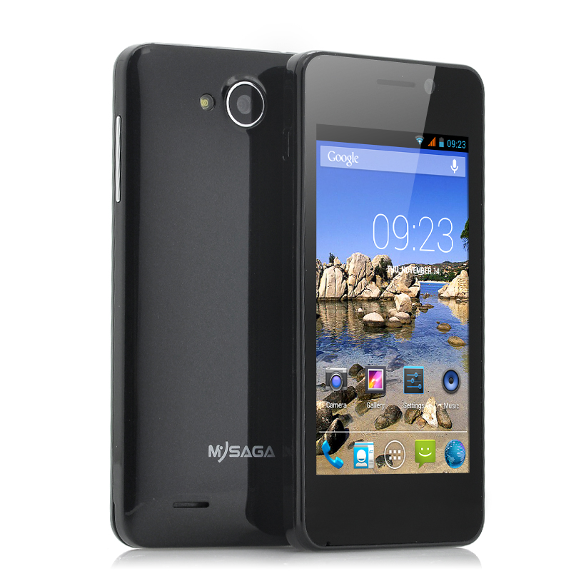 Wholesale MySaga C1 - Budget 4 Inch Android Phone (1.3GHz Dual Core CPU, 512MB RAM, GPS, Dual Camera, Black)