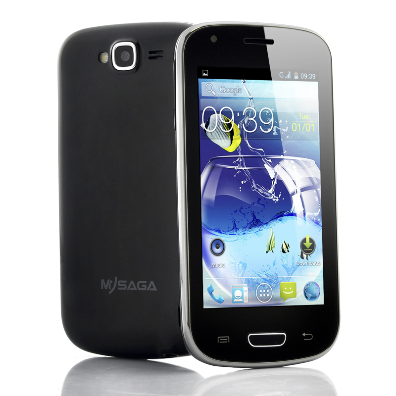 Wholesale MySaga C3 - Budget 4 Inch Android Phone (1.3GHz Dual Core CPU, 256MB RAM, GPS, Dual Camera, Black)