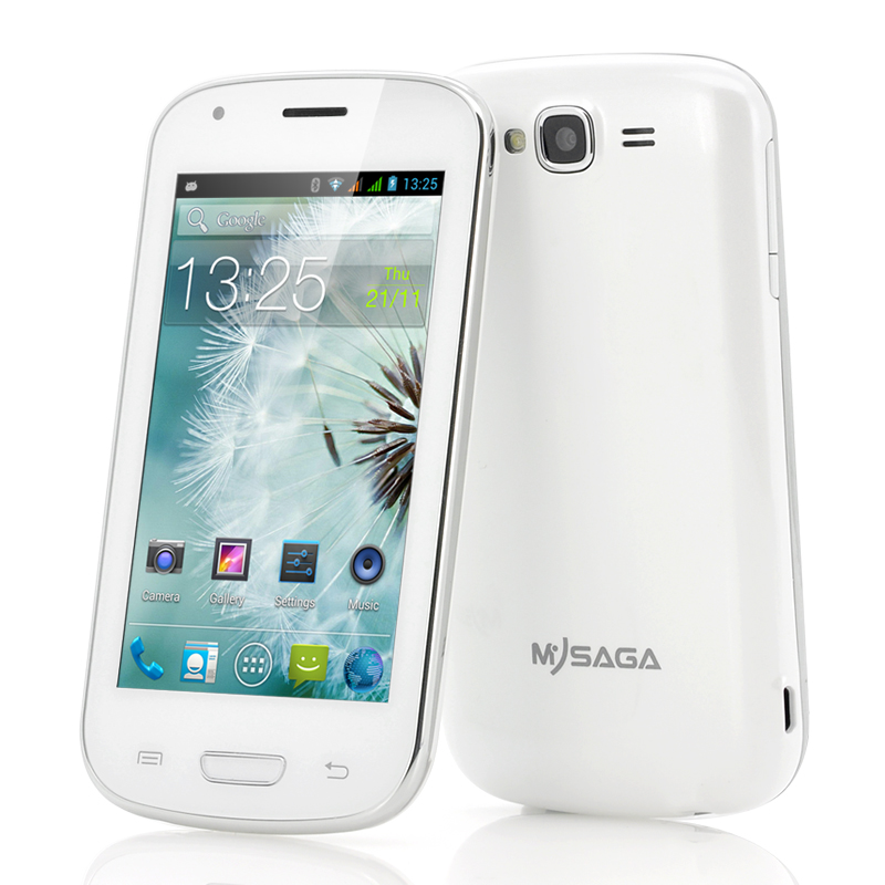 Wholesale MySaga C3 - Budget 4 Inch Android Phone (1.3GHz Dual Core CPU, 256MB RAM, GPS, Dual Camera, White)