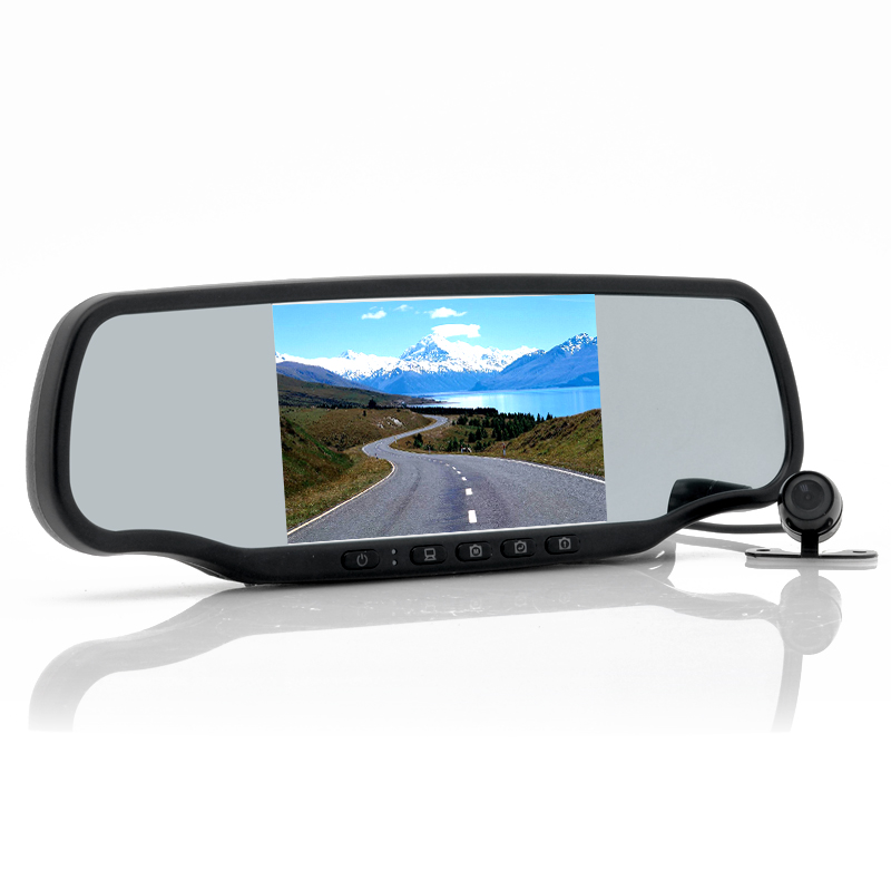 Wholesale Carmax - 5 Inch Touchscreen Car Rear View Mirror with Dashcam and Wireless Parking Camera (Speed Radar Detector, GPS, Bluetooth)