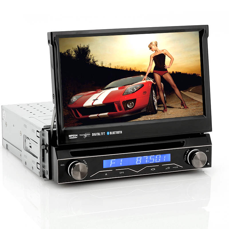 Wholesale Ecstasy - 1 DIN Car DVD Player with Detachable Front Panel, 7 Inch Flip-Out Touch Screen, Analog TV, Bluetooth