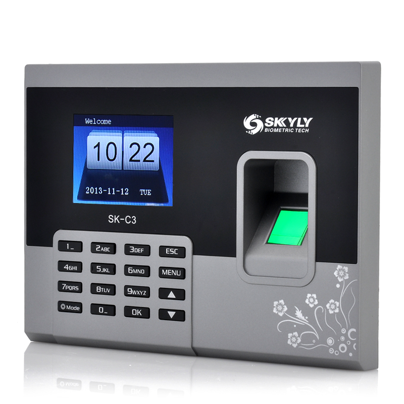 Wholesale 2.8 Inch Fingerprint Time Attendance System (320x240, 150000 Record & 600 Fingerprint Capacity)
