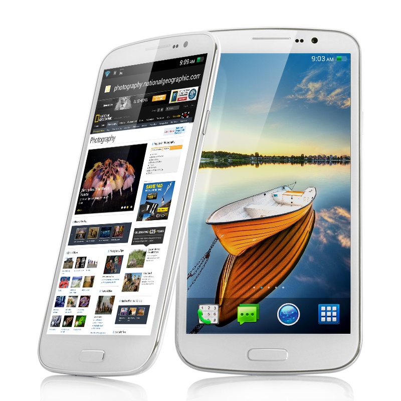 Wholesale Ares - 6.5 Inch Octa-Core Android 4.2 Phone (MTK6592 1.7GHz 8 Core CPU, 2GB RAM, 13MP Rear Camera, 16GB)