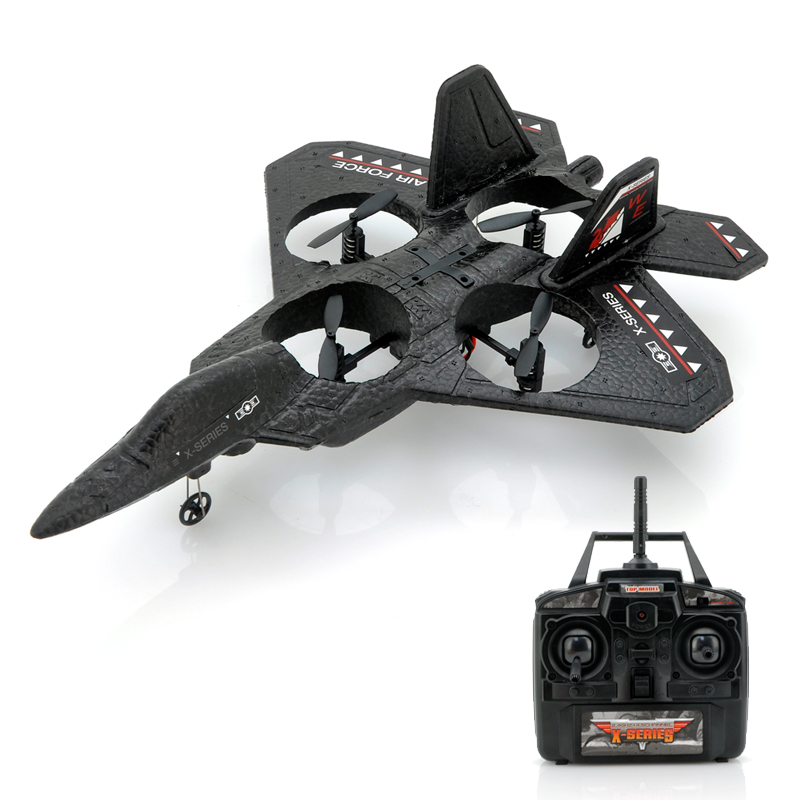 Wholesale Air Force X - 3-Axis RC Quadcopter Jet Fighter (4.5 Channels, 2.
