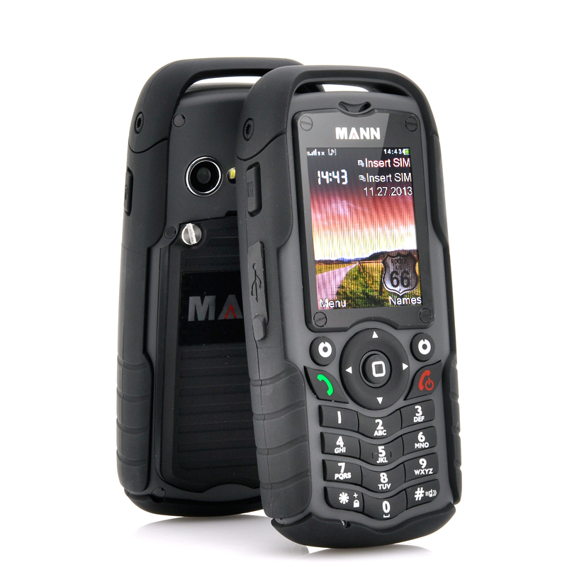 Mann Zug 1 Rugged Dual Sim Cell Phone Black Waterproof