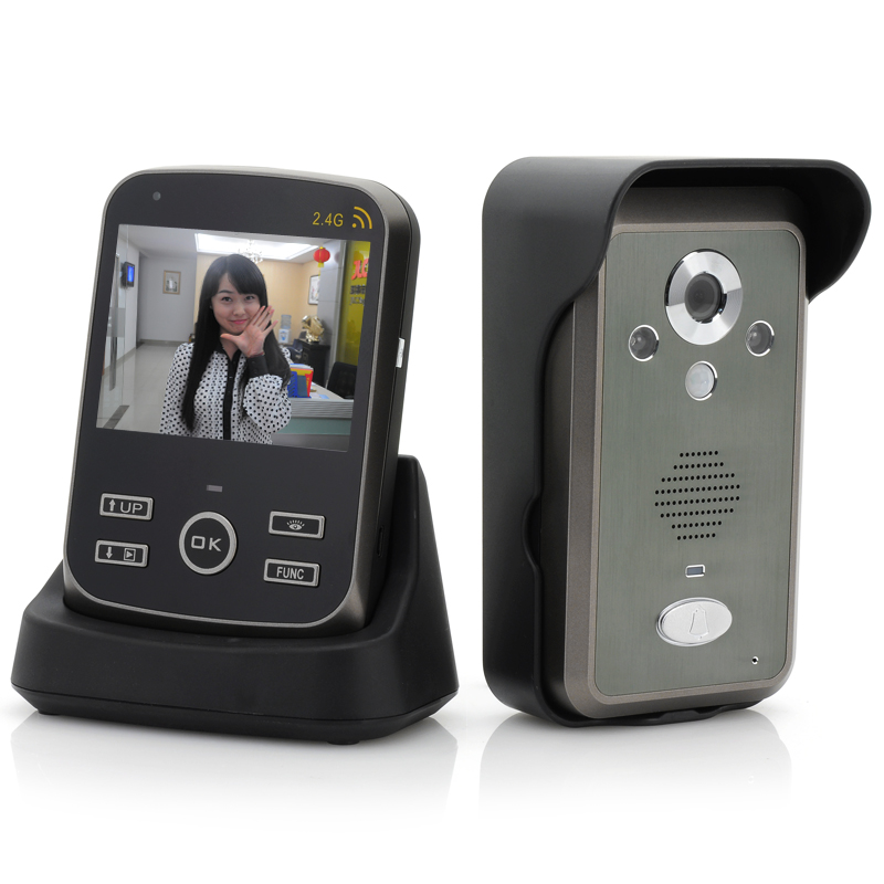 Wholesale SafeGuard - Wireless Video Door Phone with 3.5 Inch Monitor (PIR, 300M Range, Photo & Video Record)