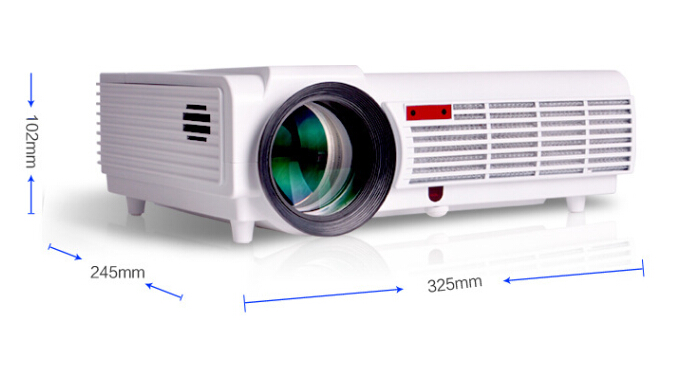 Wholesale 3000 Lumens LED Projector - 5.8 Inch LCD Panel, 2000: 1 Contrast Ratio, 1920x1080 DPI Resolution