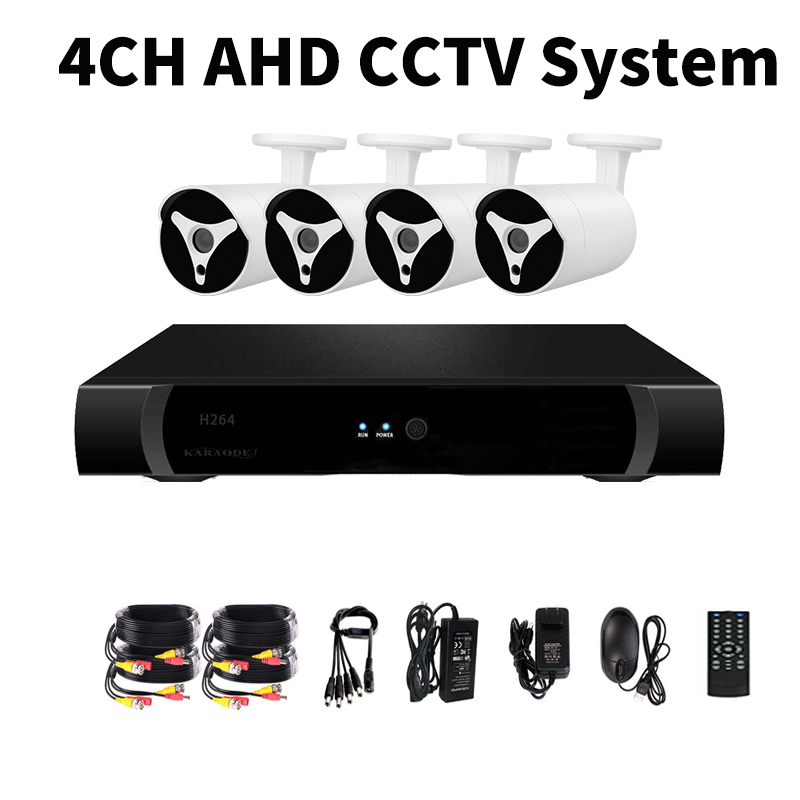 Wholesale 4 Channel AHD DVR System - 4 HD IP67 1080P Cameras, Motion Detection, 30M Night Vision, Remote Monitoring 1TB HDD