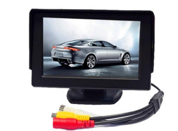 Wholesale 4.3 Inch Rearview Mirror Monitor - Button Control, 4: 3 Ratio, 480x234