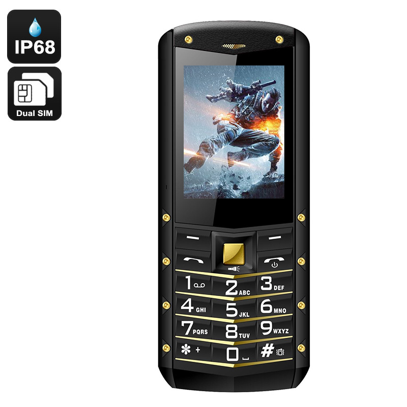 Wholesale AGM M2 IP68 Rugged Phone - IP68 Rating, Dual SIM, Quad Band, 1970mAh Battery, Flashlight (Yellow)