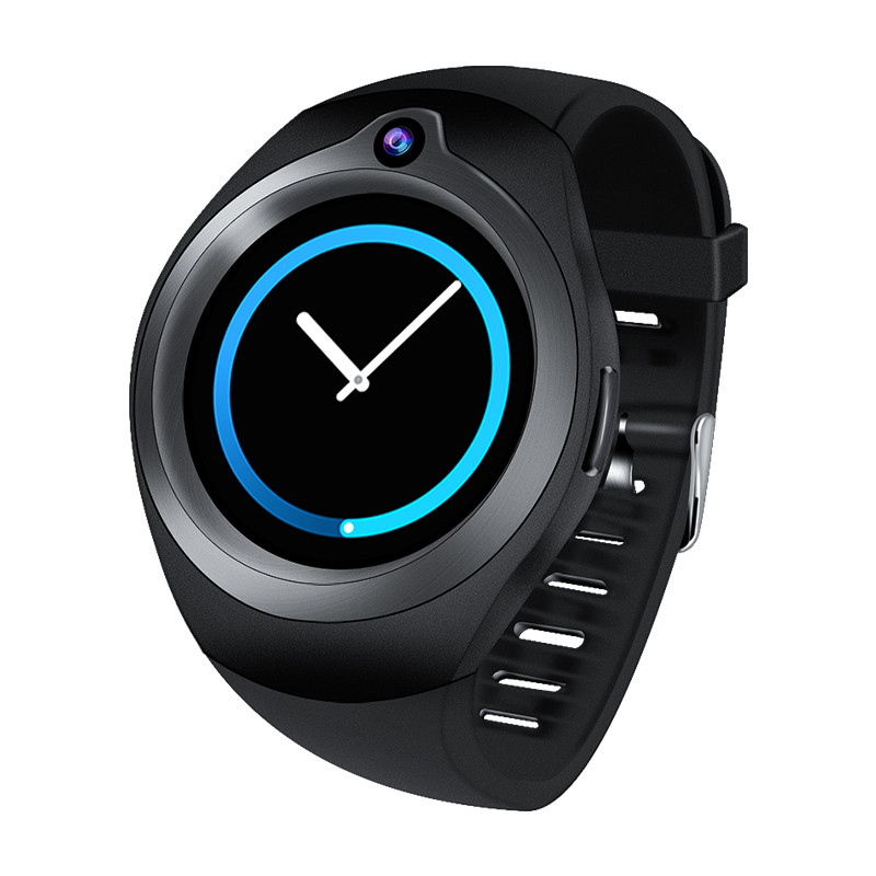 Wholesale Android Smart Watch Phone- 5M Camera, Quad Core, GPS, Bluetooth, WiFi, 3G, 1.3 Inch Screen (Black)
