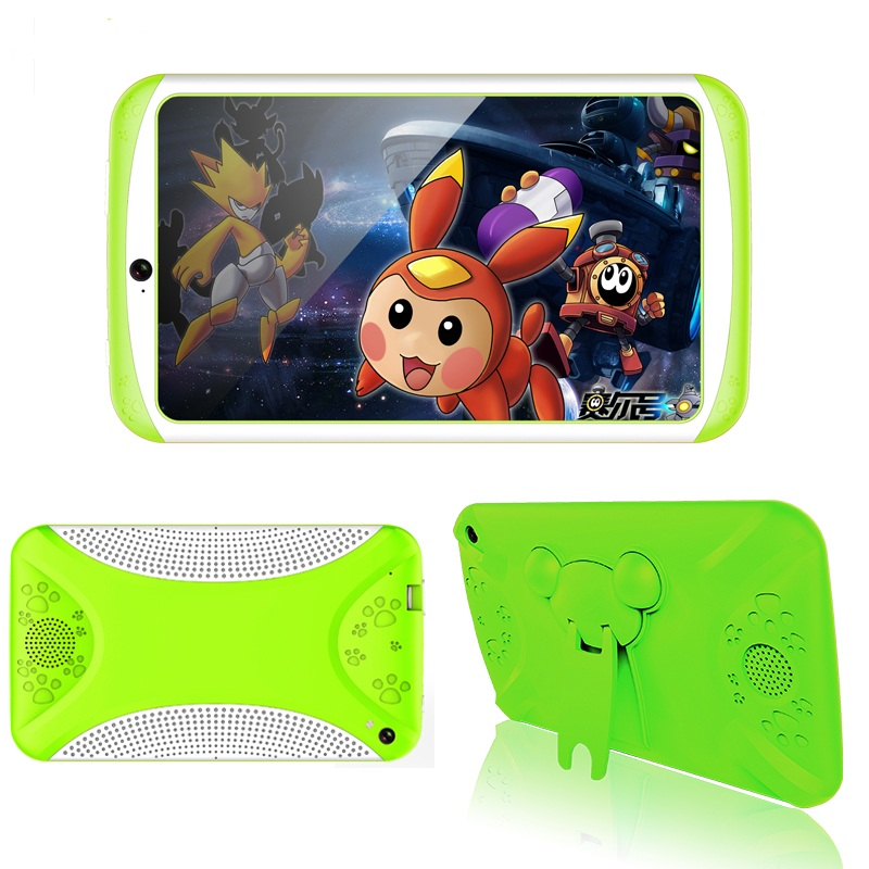 Wholesale Android Tablet Computer Green- For Kids, 7 Inch Display, HD Visuals, 3000mAh Battery, Sophisticated Hardware, WiFi