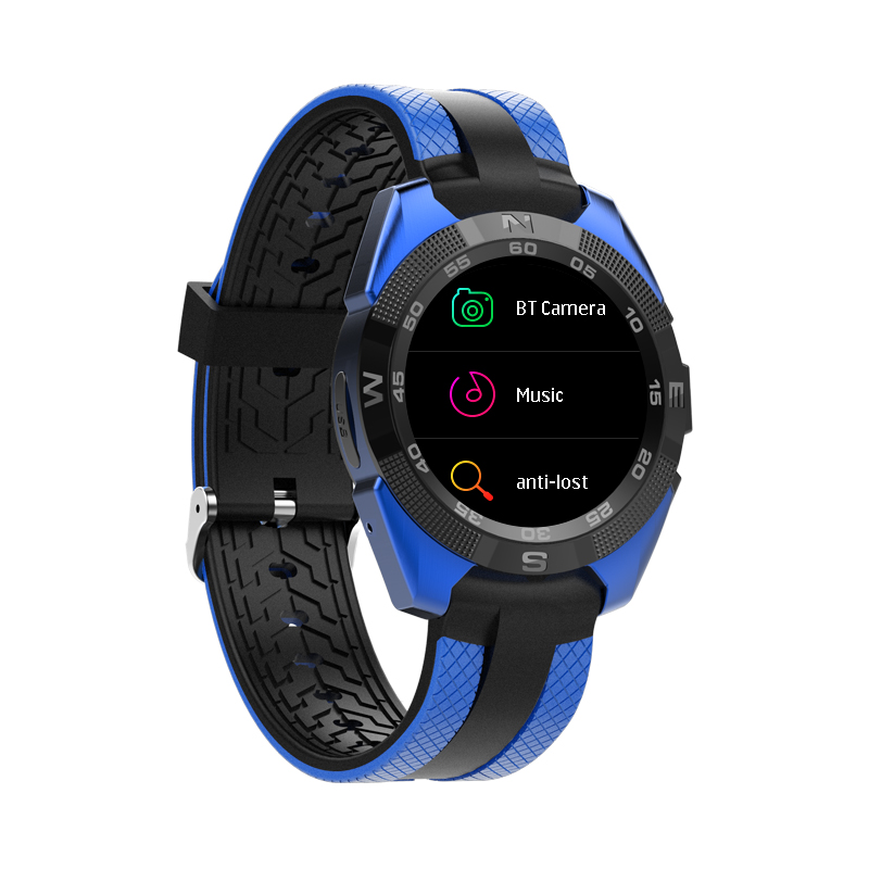 Wholesale Bluetooth Smartwatch, 10.5mm Ultra-Thin Dial, Heart rate Monitor, Pedometer, 1.54-inch display.Blue