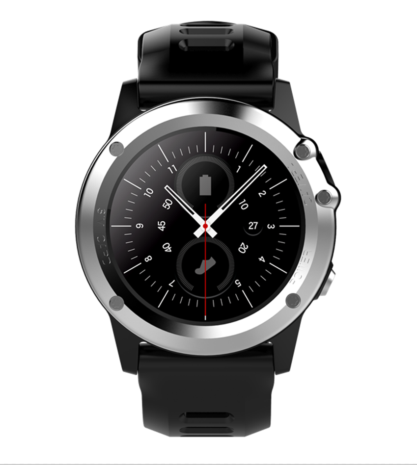Wholesale C1 IP68 Android Smart Watch - 3G, 1.39 Inch Touch Screen, Altitude, air pressure, Pedometer, Heartrate, Silver