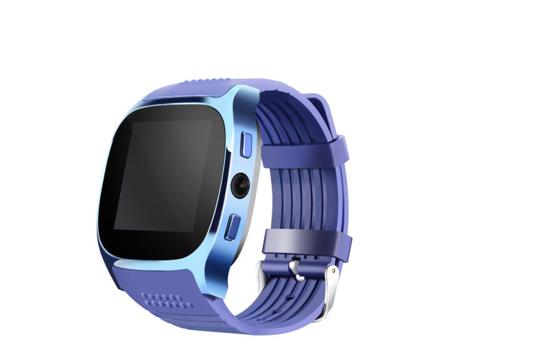 Wholesale C8 watch mobile phone Blue - bluetooth 4.0, 1 IMEI, 2 G, pedometer, sleep monitoring.Sedentary remind