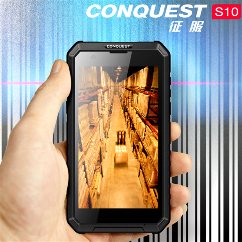 Wholesale Conquest S10 Rugged Smartphone - IP68, GPS, Octa Core, LED Light Torch, OTG, NFC, 5000 mAh Battery, 4G