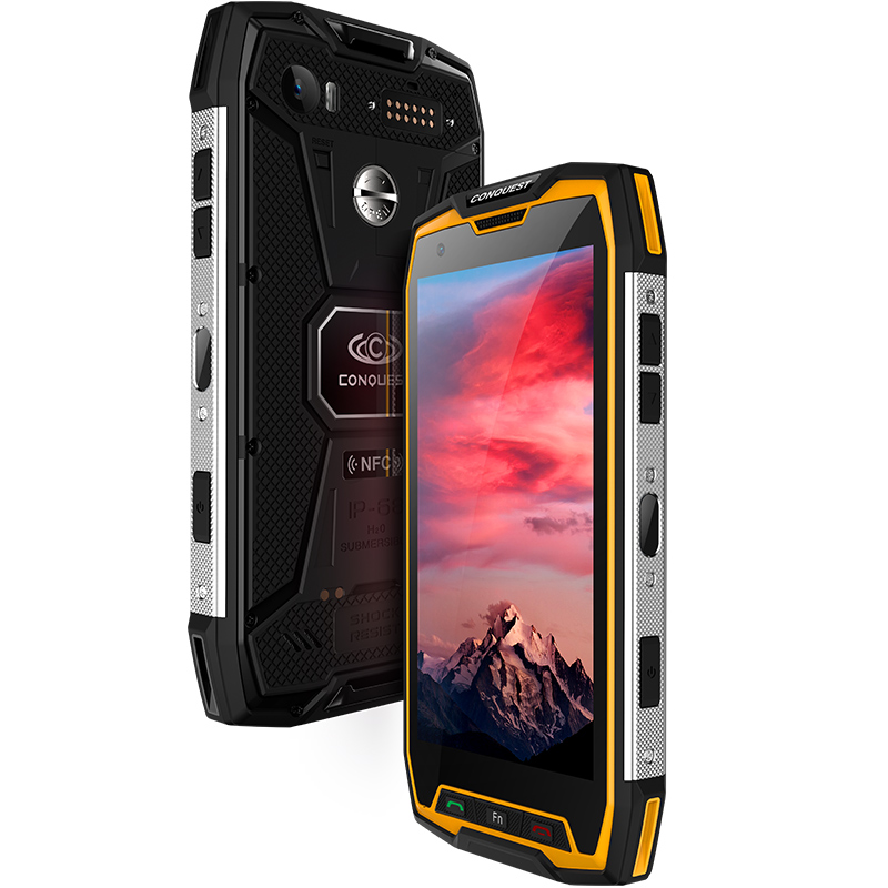 Wholesale Conquest S9 Rugged Smartphone 6GB+64GB, IP68 Waterproof, Android 7.1, 5.5Inch 1920 x 1080 pixels, 2.35GHz, 6000mAh Battery