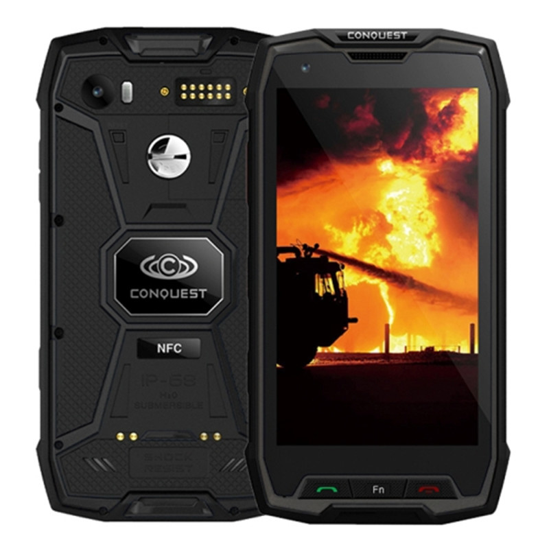 Wholesale Conquest S9 Rugged Smartphone, IP68 Waterproof, 5.5Inch IPS, Android 7.1 MTK6757 Octa Core, OTG, POC, IR Remote Control