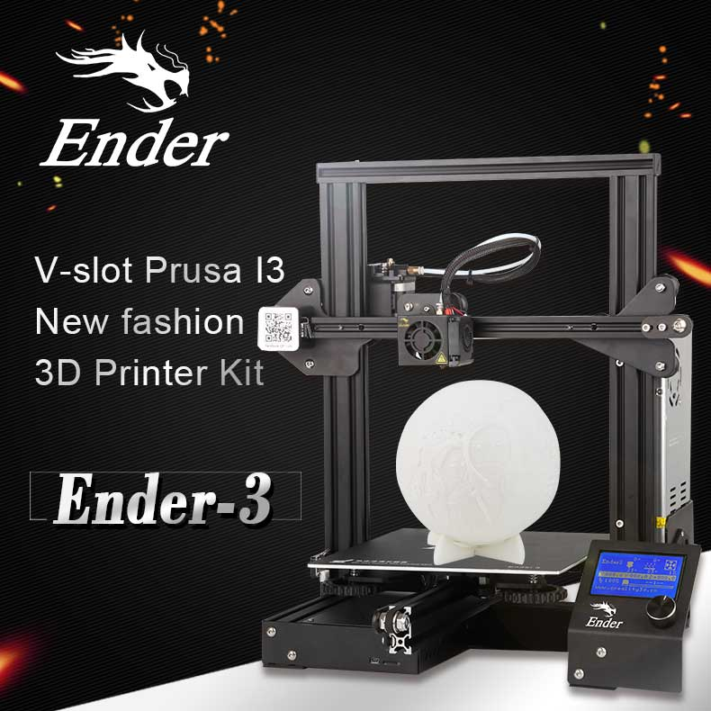 Wholesale Creality 3D CR-Ender3 3D Printer - DIY Design, 0.1mm Accurate, LCD Display, 220x220x250mm Printing Volume, G-Code