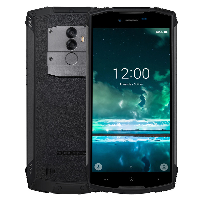 Wholesale Doogee S55 Android Phone - Android 8.0 5.5inch HD Screen, IP68, Octa-Core, 64GB ROM, Dual Camera (Black)
