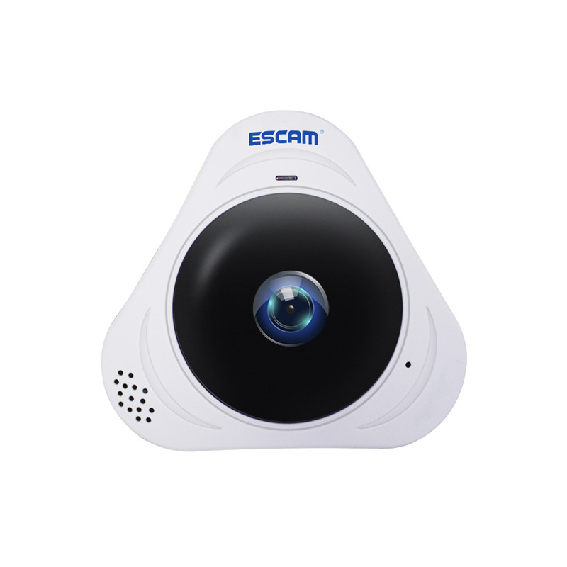 Wholesale ESCAM Q8 360 Degree Panoramic IP Camera - 960P, Night Vision, Motion Detection, Two Way Audio, Support Onvif Protocol (White)