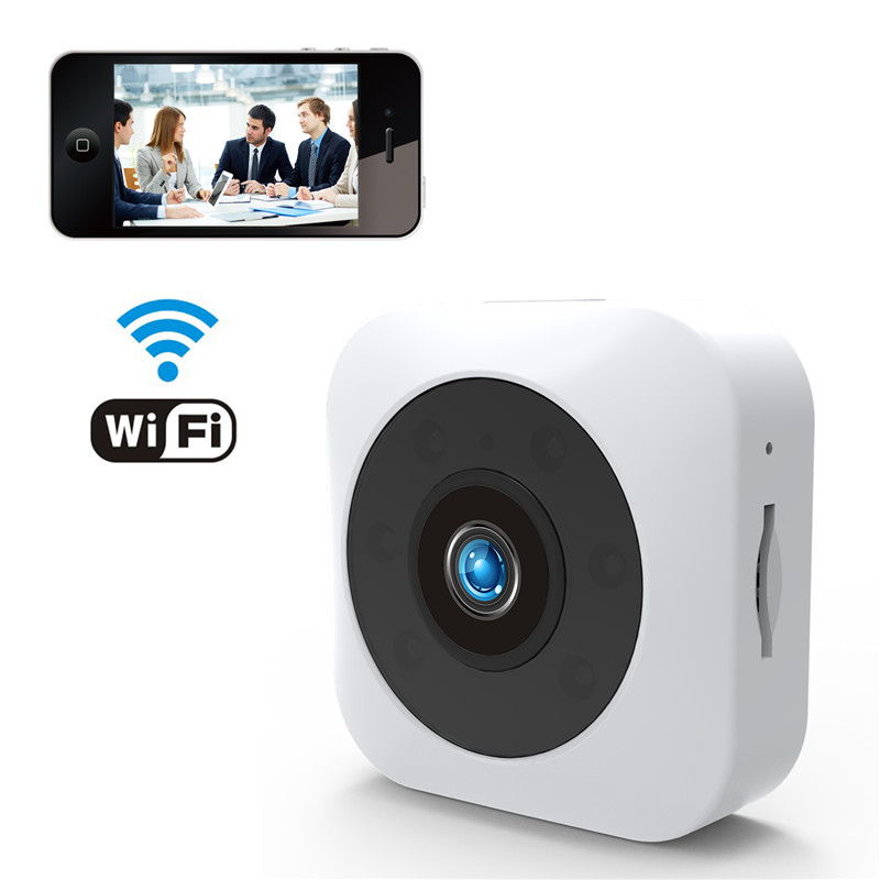 Wholesale HD Mini WiFi Camera WhiteHD Mini WiFi Camera - 720P, Infrared Night Vision, APP, Support Micro SD, Magnetic Mount (White)