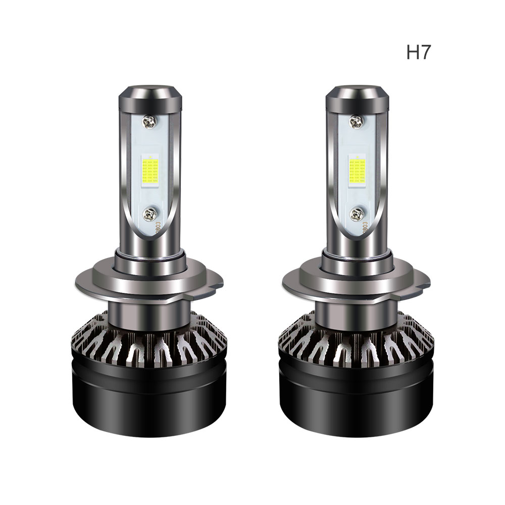 Wholesale LED Car Headlight Bulbs - H7 Fitting, 5000 Lumen Each, 6000k White Light, IP67 Waterproof, Aluminum Body, 360-Degree Light