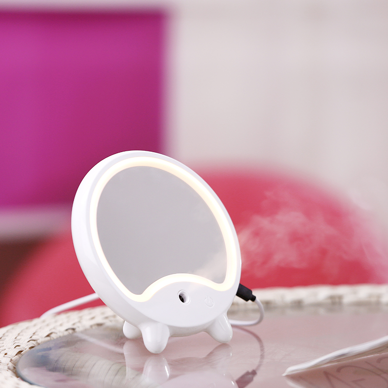Wholesale LED Makeup Mirror - Face Humidifier, Nature LED Light, 100ML Water Tank