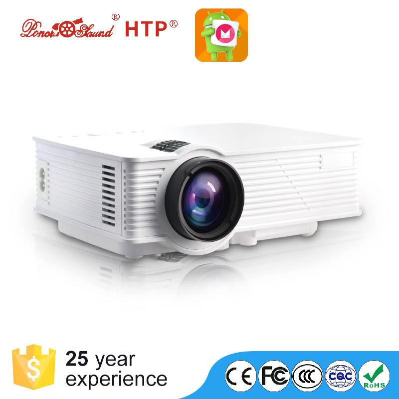 Wholesale LED Projector - FHD Support, Android 4.4.800 Lumen LED, 800x480P Native Resolution, Built-In Speaker, HDMI, VGA, AV
